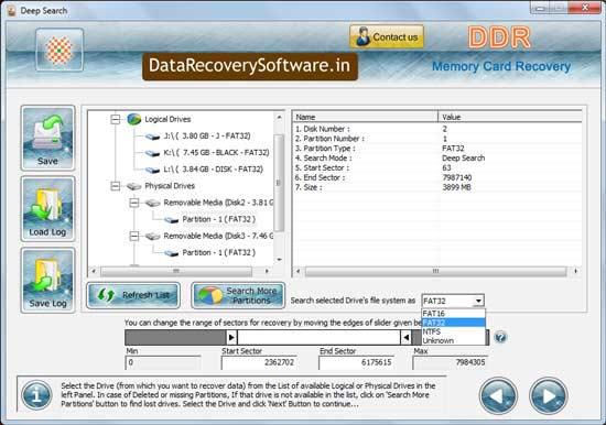 Windows 7 Memory Card Data Recovery Tool 5.3.1.2 full